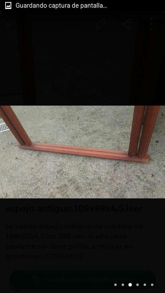 Imagen producto Espejo antiguo madera de 109x89x4,5. 3