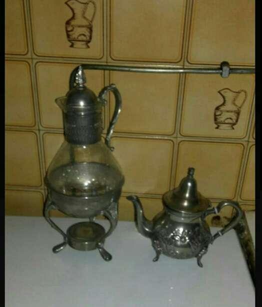 Imagen lote de jarra y tetera antiguas .ver fotos