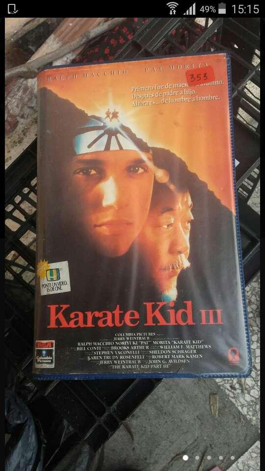 Imagen pelicula vhs karate kid 3 de 1984.