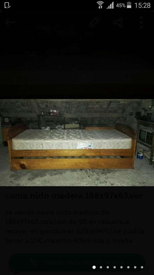 Imagen cama nido madera de 188x97x63.ve