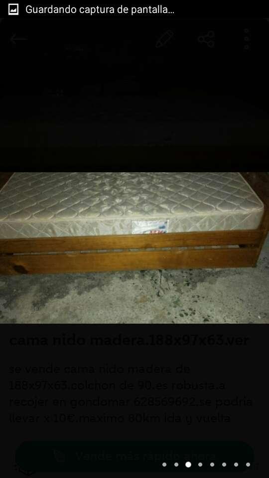 Imagen producto Cama nido madera de 188x97x63.ve 3