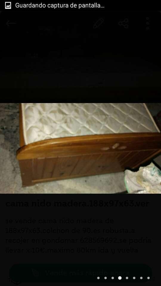 Imagen producto Cama nido madera de 188x97x63.ve 4