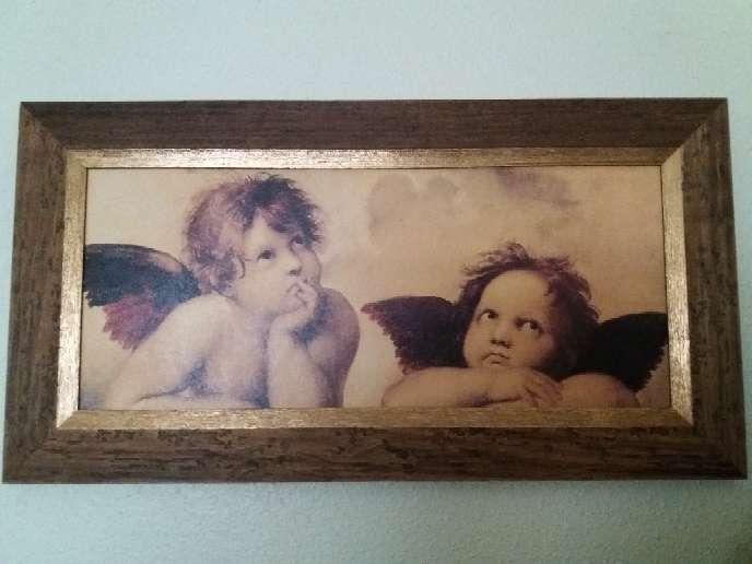 Imagen Cuadro grande de ángeles del pintor Rafael Sanzio