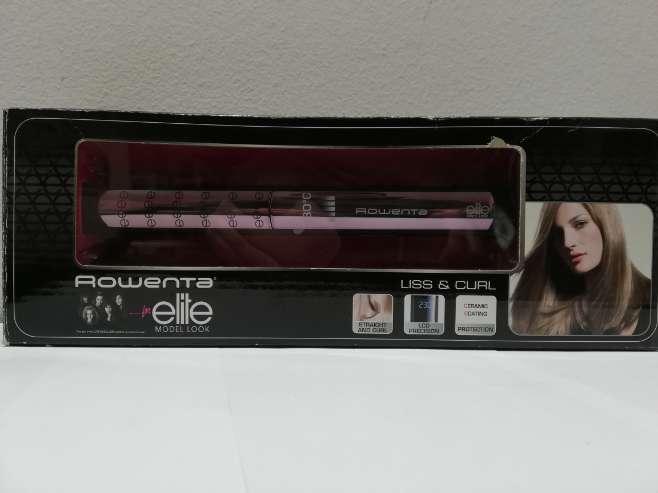 Imagen producto Rowenta SF4412 - Plancha de pelo con pantalla LCD, color negro 1