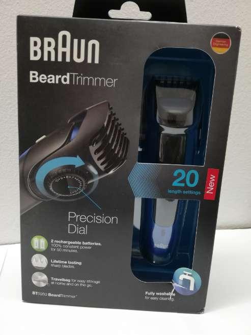 Imagen aparadora barba Braun