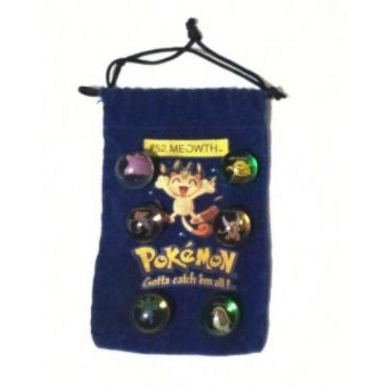 Imagen Lote De 6 Canicas Pokémon 1990