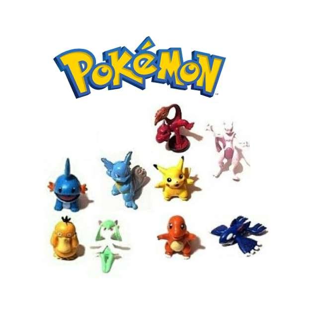 Imagen Lote De 9 Figuritas Pokémon