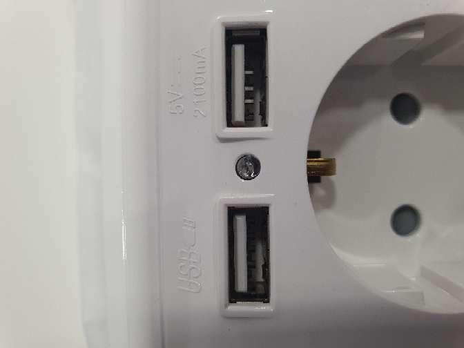 Imagen producto Enchufe con USB 2.1 amp 6