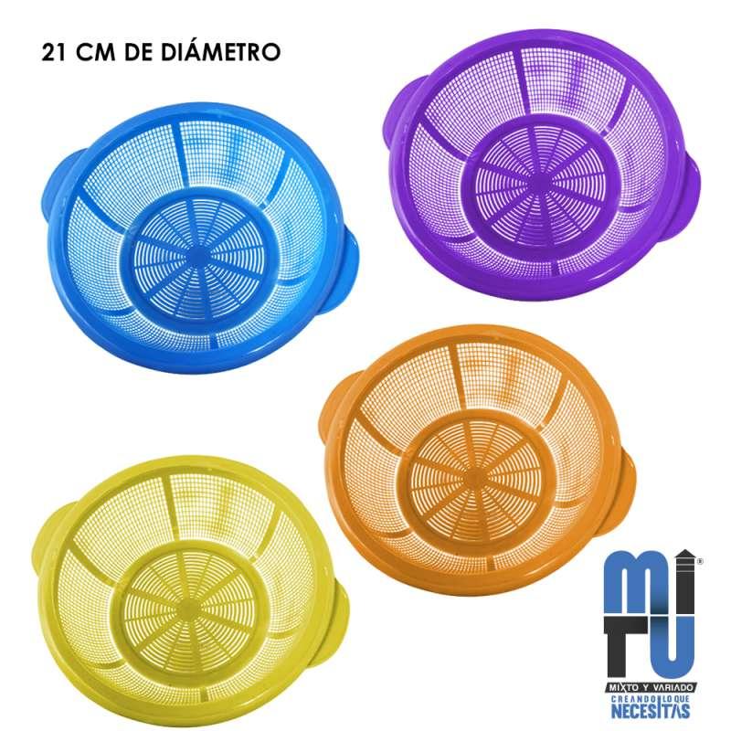Imagen VM0079 colador de plástico yumbu marca Mitu set de 3 piezas