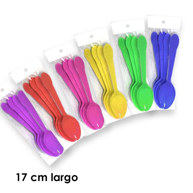 Imagen VM0101 cuchara sopera de plástico 6 juegos con 4 piezas