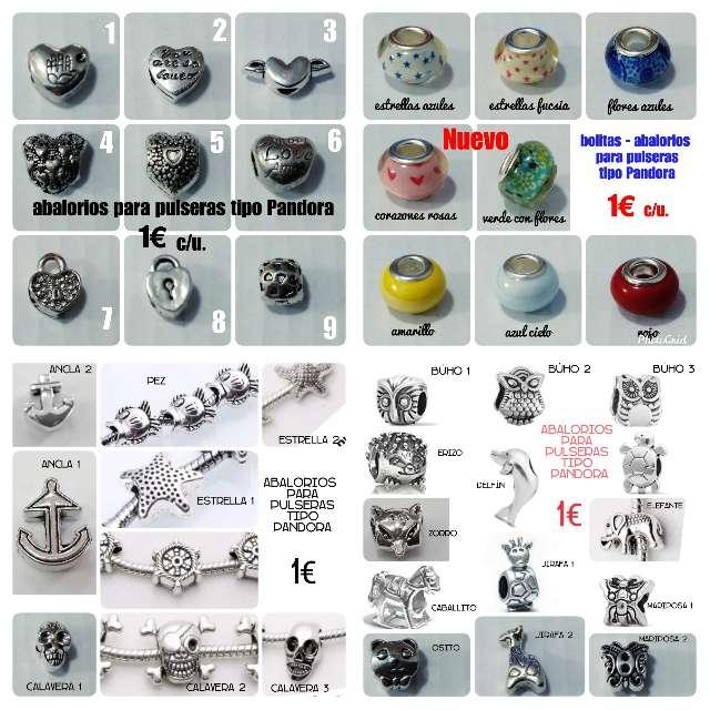 Imagen Abalorios para pulseras 1 € c/u.