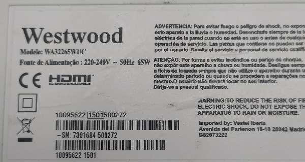 Imagen producto TV televisor HDMI 32 pulgadas 2