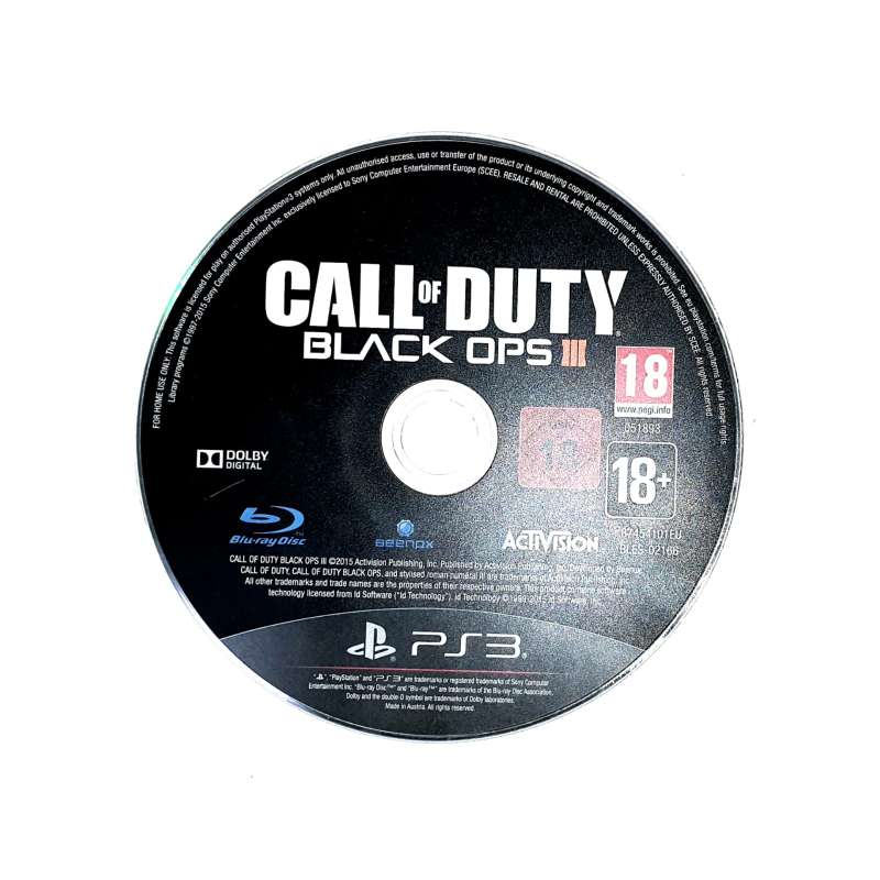 Imagen Call of Duty: Black Ops 3 Para PS3 Sin Caja