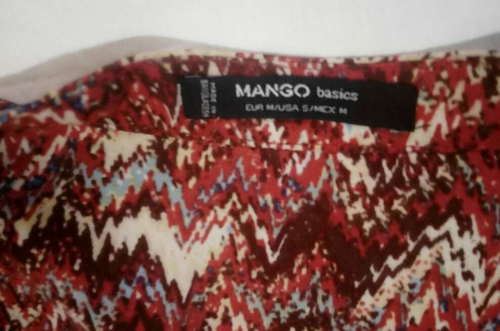 Imagen producto Camisa estampada larga de mango 2