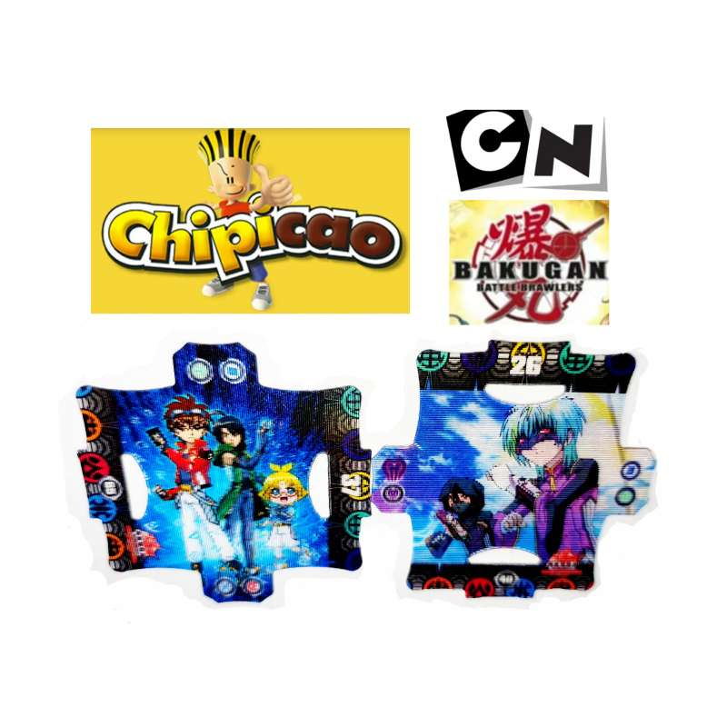 Imagen producto Tazos Raros Chipicao Bakugan 2009, Cartoon Network 1