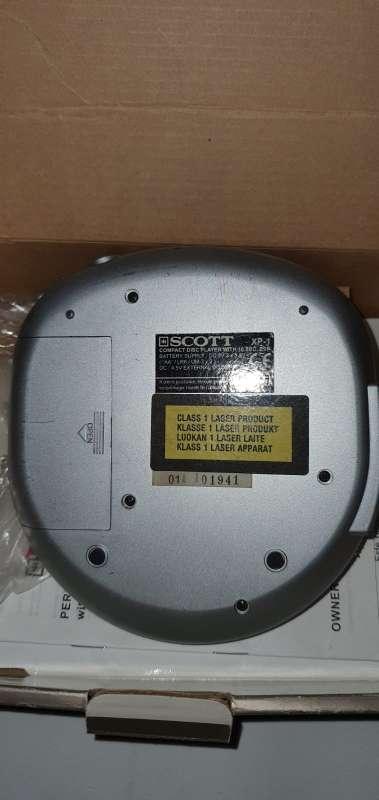 Imagen producto Reproductor CD Portátil, Discman En Buen Estado 2