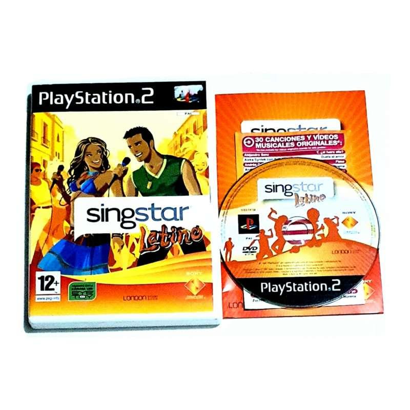Imagen Videojuego Singstar Latino PS2.