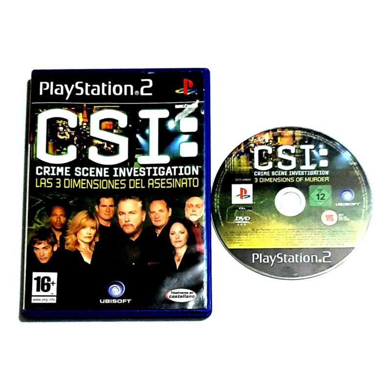 Imagen producto Videojuego CSI Para PS2, Para PlayStation 2 1