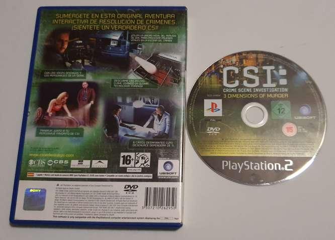 Imagen producto Videojuego CSI Para PS2, Para PlayStation 2 2