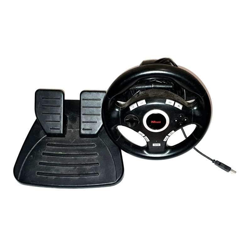 Imagen Lote De Conducción Para PS2, Volante + Pedales