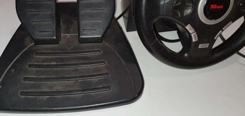 Imagen producto Lote De Conducción Para PS2, Volante + Pedales 3