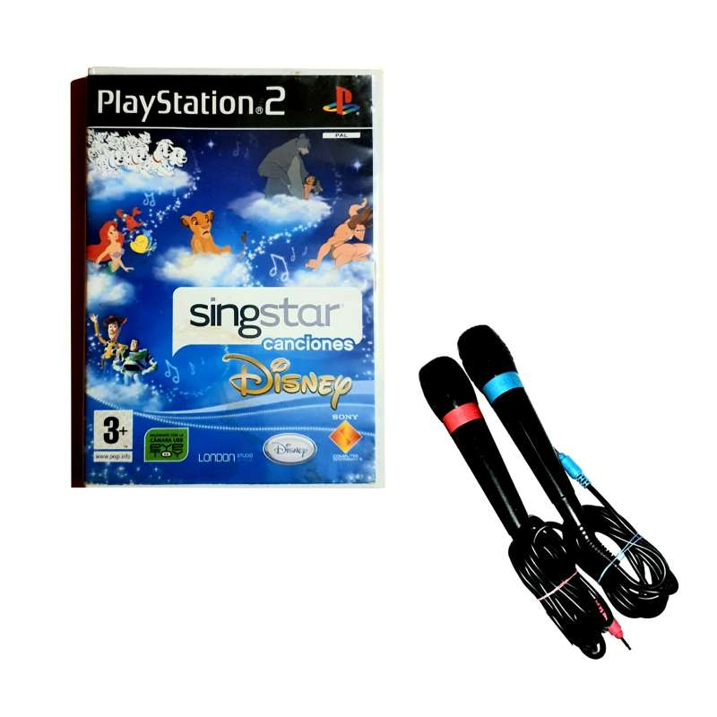 Imagen Lote Singstar Magia Disney + 2 Micrófonos Para PS2