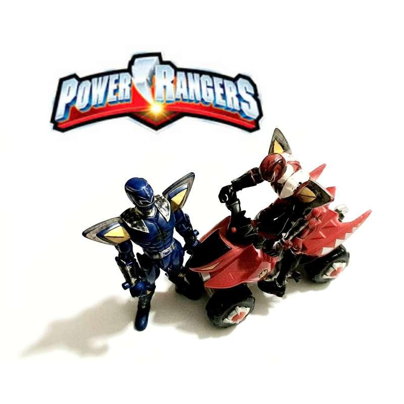 Imagen Lote De 2 Power Ranger + Moto De Coleccionista