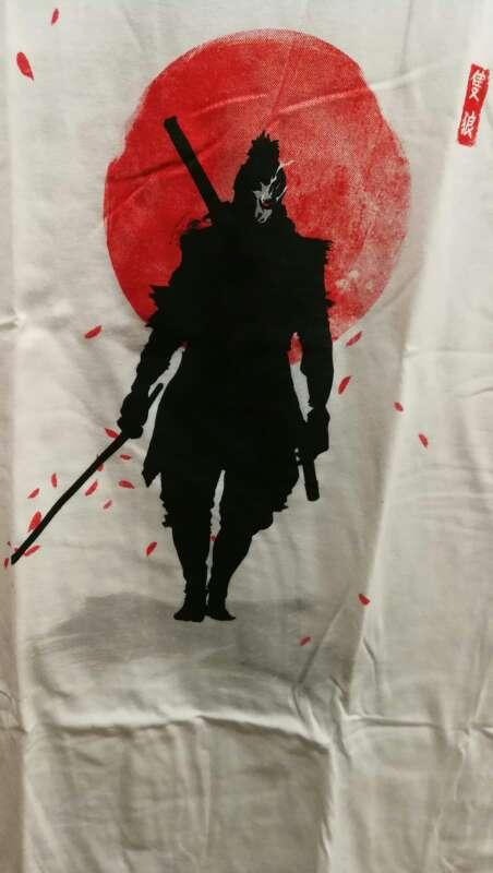 Imagen Camiseta Samurai Negro