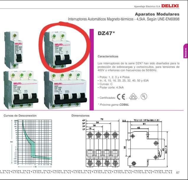 Imagen producto Interruptores Automáticos Magneto-Térmicos 4