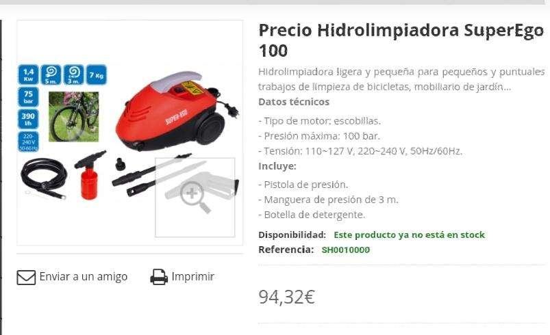 Imagen producto Hidrolimpiadora SuperEgo 100 Como Nueva 4