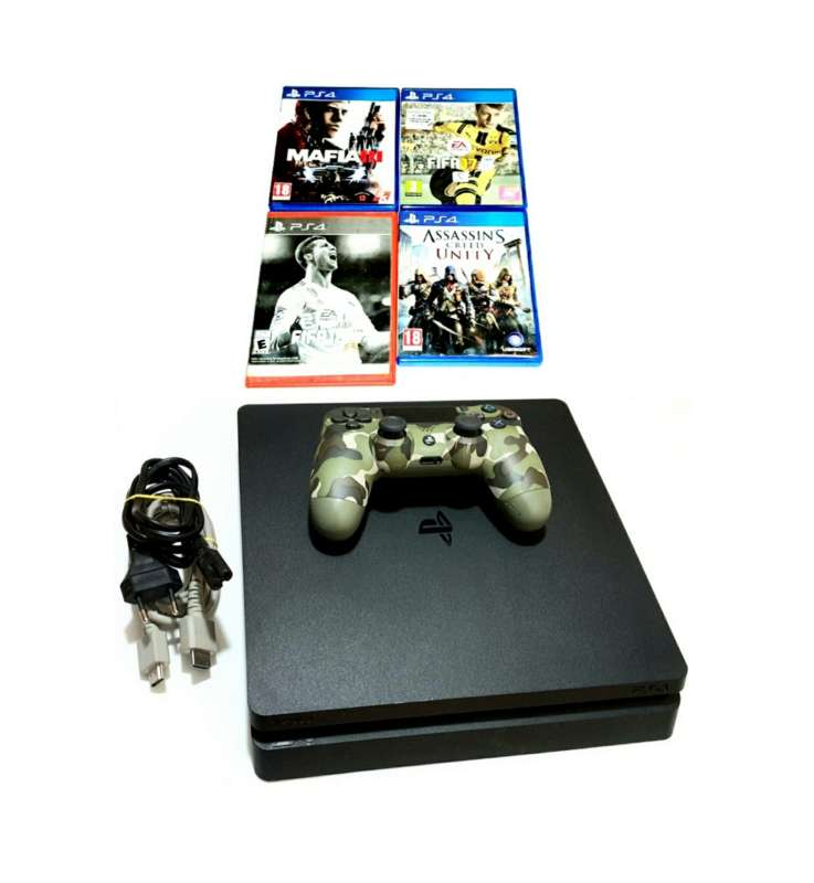 Imagen Play Station 4, Sony Ps4 Slim 500GB, PlayStation.