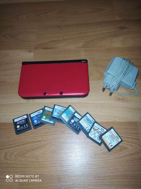 Imagen Nintendo 3DS XL + cargador + 9 juegoa
