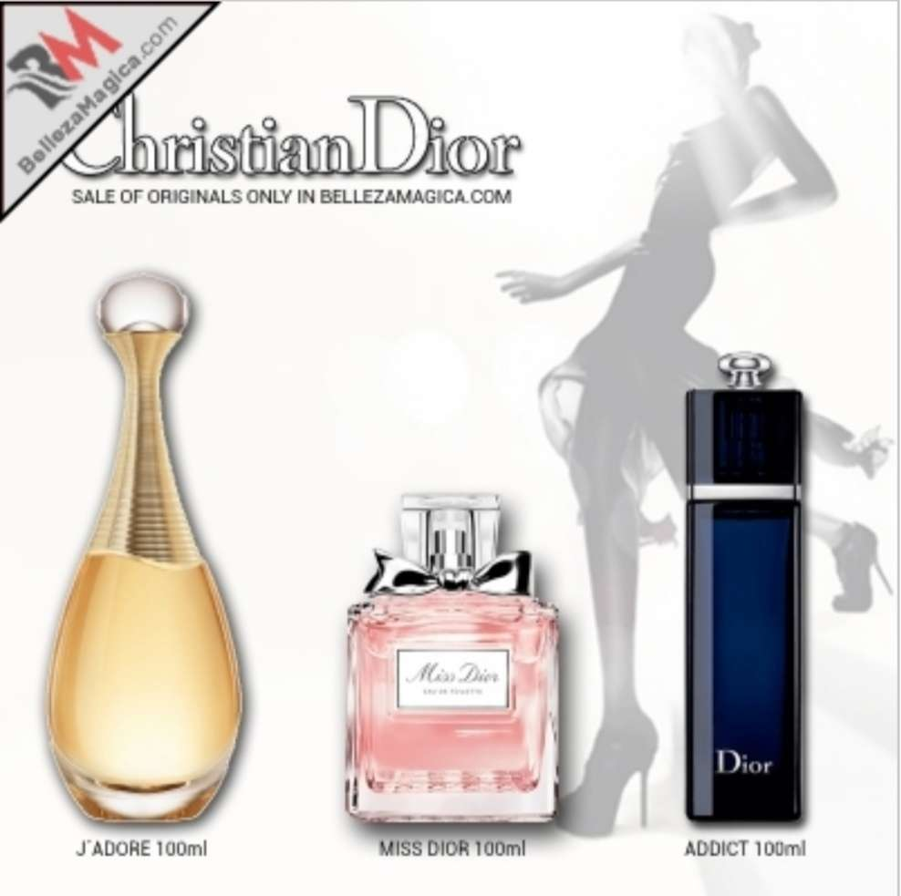 Imagen Pack Dior 3 perfumes jadore miss dior addict 100ml