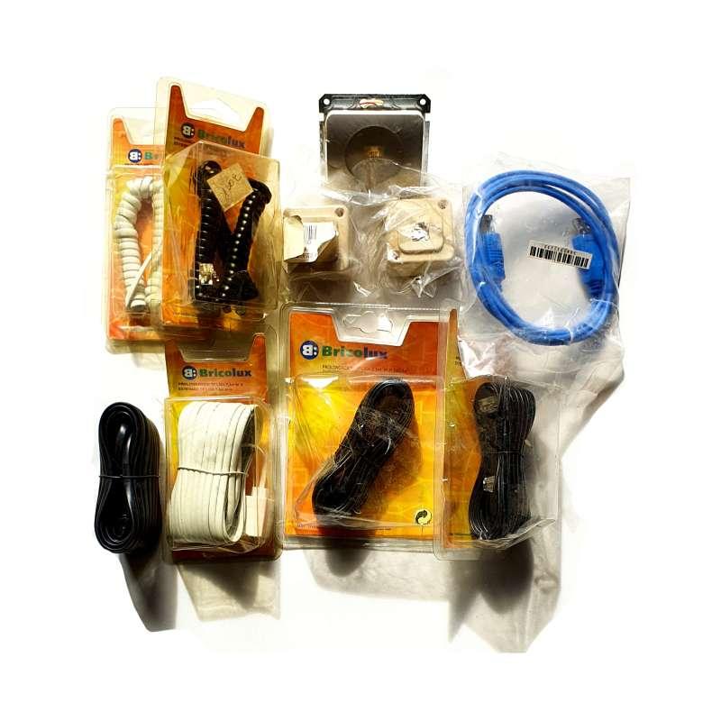 Imagen Lote De Enchufes Y Cables De Red, Electricidad