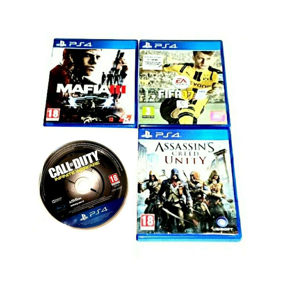 Imagen Lote De 4 Juegos Para PlayStation 4, PS4