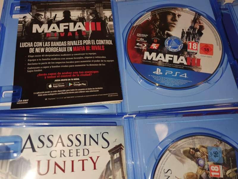 Imagen producto Lote De 4 Juegos Para PlayStation 4, PS4 5