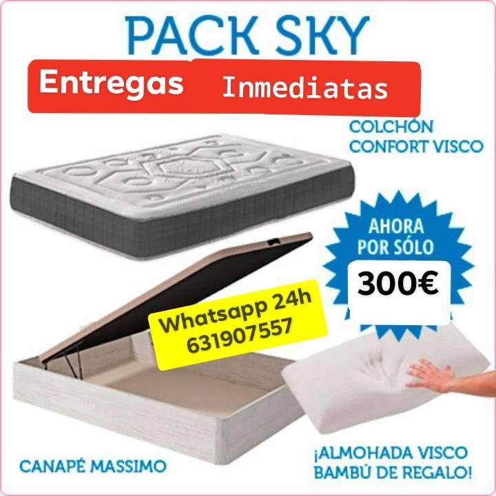 Imagen colchon+ canape por 300€ + almohada viscoelastica de regalo