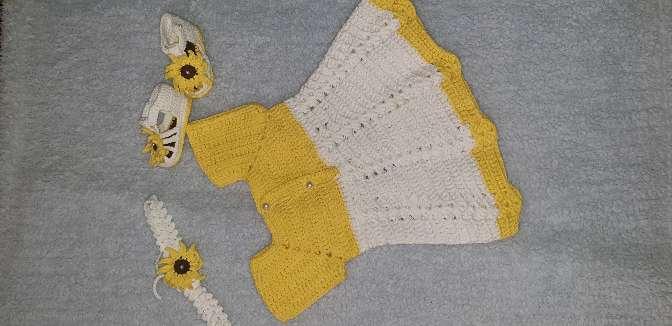 Imagen producto Vestido de niña 0-3 meses  2