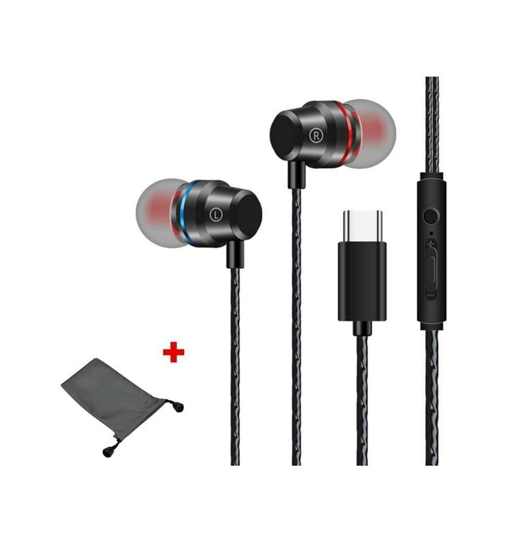 Imagen producto Auriculares Con Cable De 1 Metro Tipo C, Nuevos 1
