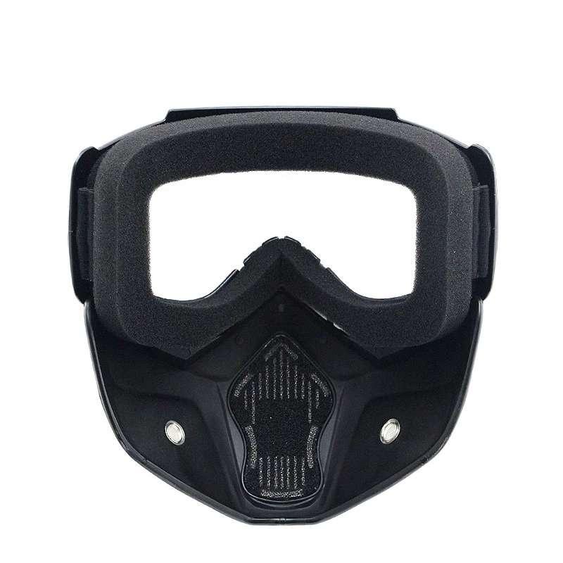 Imagen producto Mascara con gafas  para moto y bicicleta  3