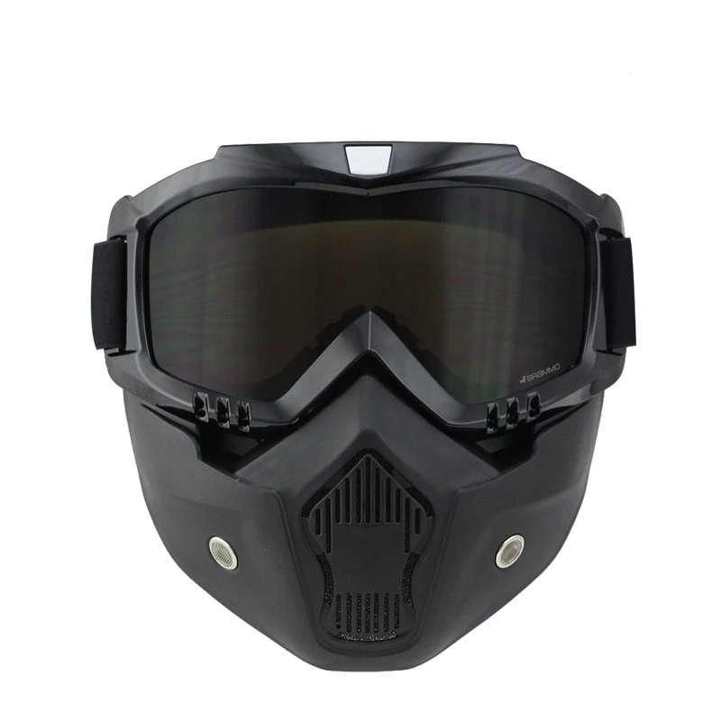 Imagen producto Mascara con gafas  para moto y bicicleta  4