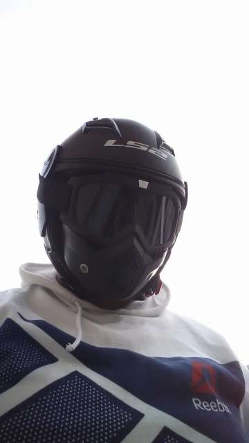 Imagen producto Mascara con gafas  para moto y bicicleta  2