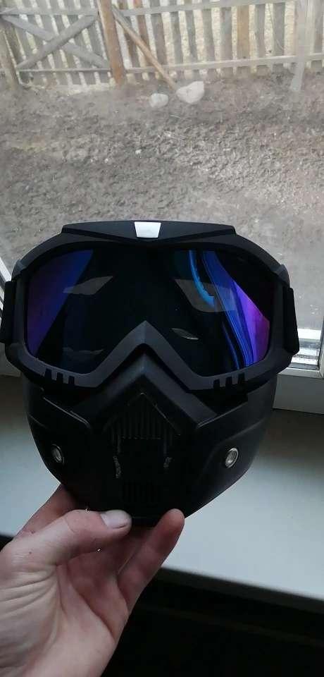 Imagen Mascara con gafas  para moto y bicicleta