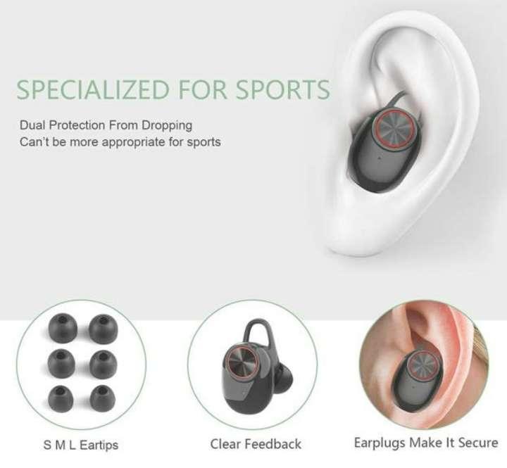 Imagen producto Auriculares Bluetooth Con Caja De Carga, Nuevos 2