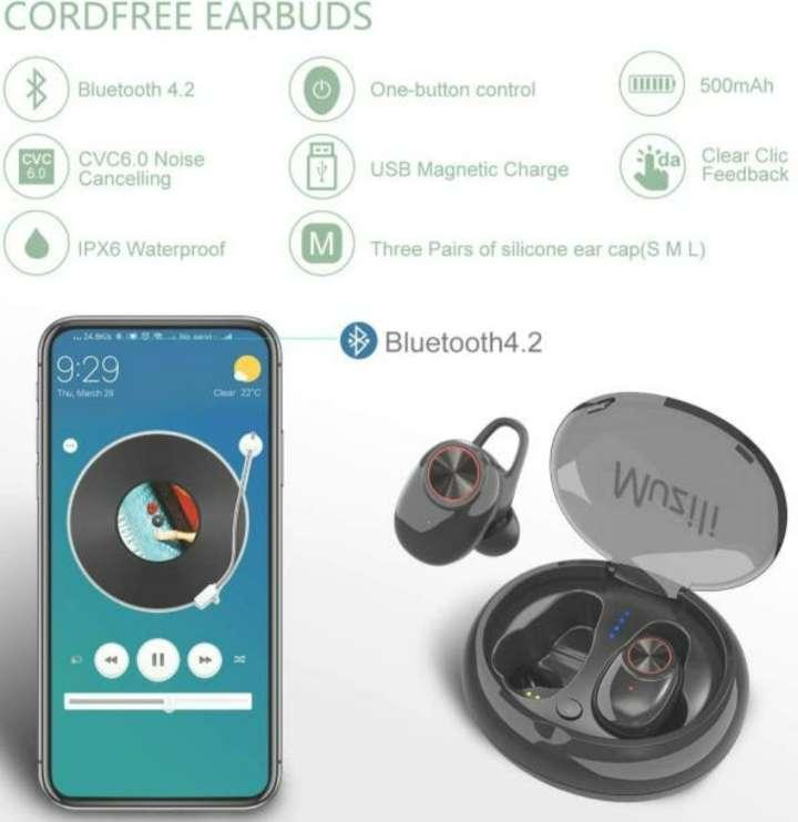 Imagen producto Auriculares Bluetooth Con Caja De Carga, Nuevos 3