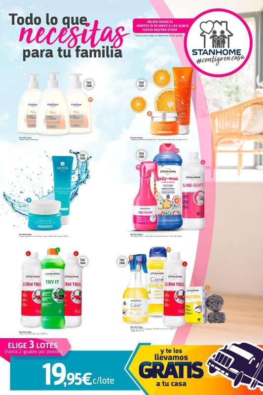 Imagen lotes de productos de limpieza