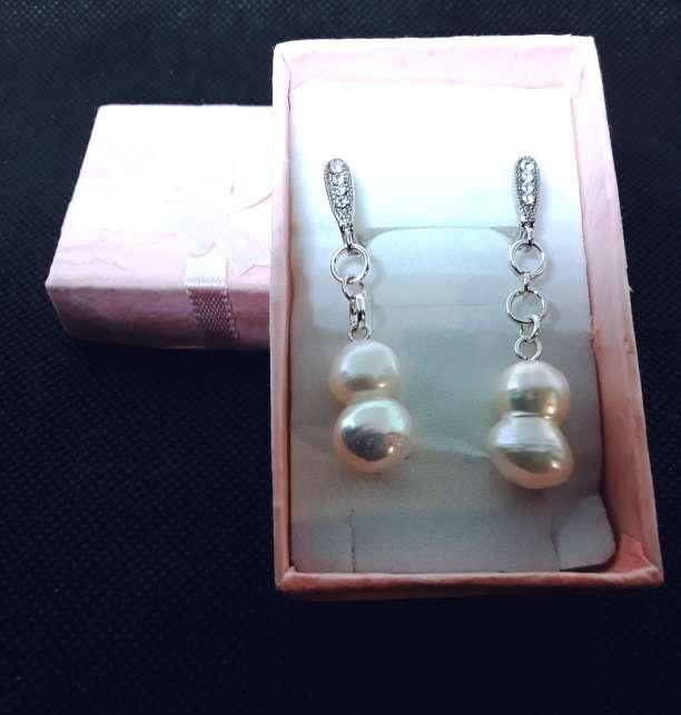 Imagen Pendientes de Plata y Perlas