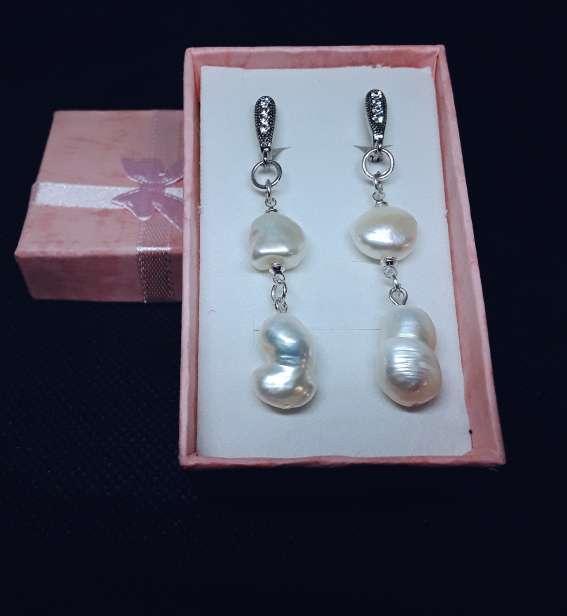 Imagen producto Pendientes de Plata y Perlas  1