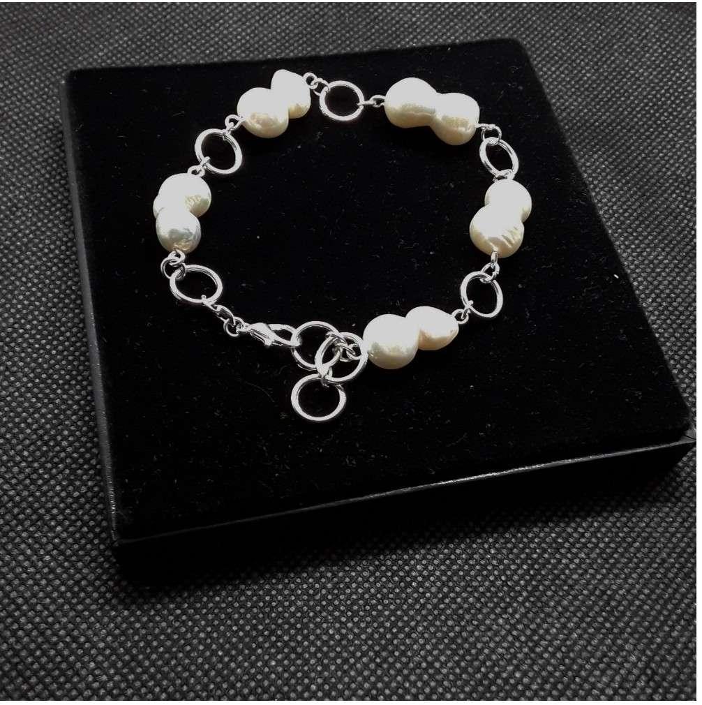 Imagen producto Pulsera de Plata y Perlas  1