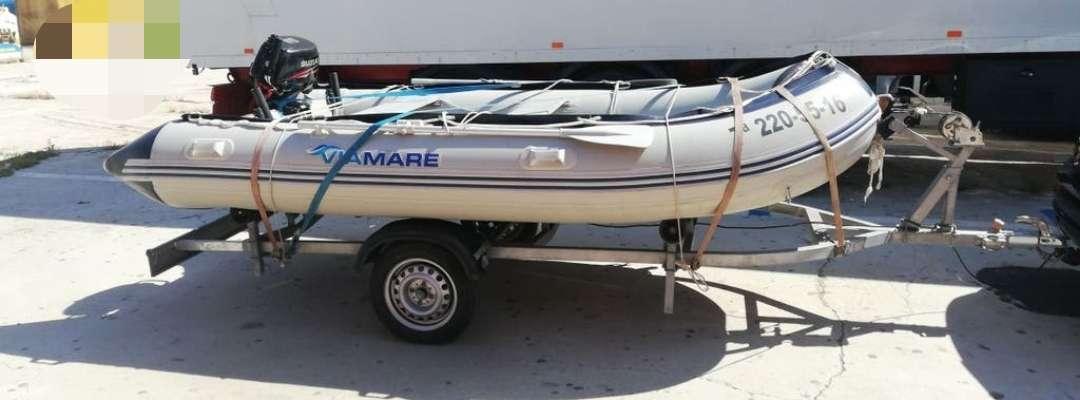Imagen zodiac 380 preparado para salir a pescar